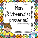 Personal Dictionary in French - Mon dictionnaire personnel