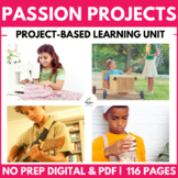 Personal Passion Project: Entire Unit - DISTANCE LEARNING, Genius Hour (PBL)