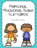 Personal Emotional States Clip Cards Freebie