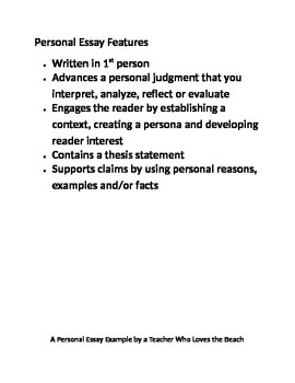 features of a personal essay
