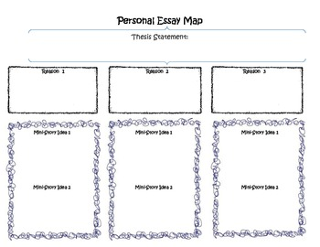 personal essay graphic organizer  worksheets  teachers pay teachers personal essay graphic organizer personal essay graphic organizer