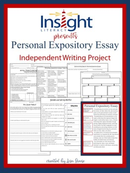 Personal Expository Essay Independent Writing Project {Texas STAAR Aligned}