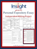 Personal Expository Essay Independent Writing Project {Tex