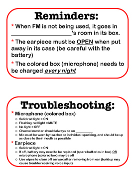 Personal FM Reminder/Troubleshooting Keychain Cards