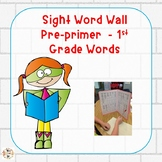 Personal File Folder Word Walls PP-1st Grade Words:  Superhero Theme