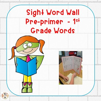 Personal File Folder Word Walls PP-1st Grade Words:  Superhero Theme