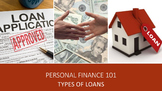 Personal Finance 101:  Types of Loans Lesson