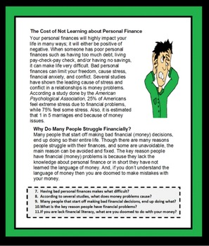 Personal Finance, Personal Finances