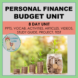 Personal Finance 8 Day Budget Unit