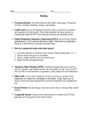 Personal Finance -- Banking/Checkwriting Test and Chapter Notes