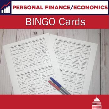 Personal Finance Bingo Cards