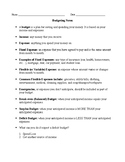 Personal Finance -- Budgeting Test and Chapter Notes