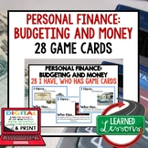 Personal Finance Budgeting and Money GAME CARDS, Print Dig