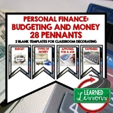 Personal Finance Budgeting and Money Word Wall Pennants (E