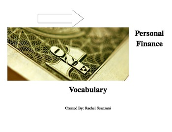 Personal Finance Vocab Bundle - Editable Version