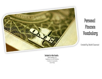 Personal Finance Vocab Bundle - PDF