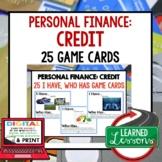 Personal Finance CREDIT GAME CARDS, Print & Digital Distan