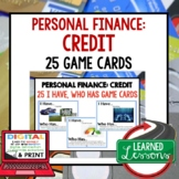 Personal Finance CREDIT GAME CARDS (Economics and Free Ent