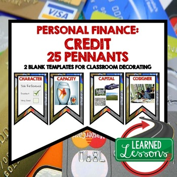 Personal Finance CREDIT Word Wall Pennants (Economics and