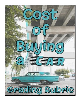 Personal Finance Car Buying Project Grading Rubric