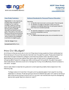 personal finance case study how do i budget by next gen personal