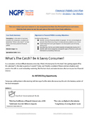 Personal Finance Case Study: What's The Catch? Be A Savvy