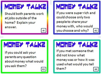 (MS) Personal Finance Conversation Starters for Middle School:Financial Literacy