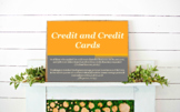 Personal Finance: Credit and Credit Cards Unit // Credit S