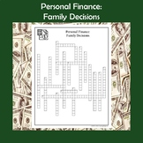 Personal Finance Family Decisions Crossword Puzzle