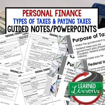 Personal Finance Guided Notes & PowerPoint,  Economic Notes