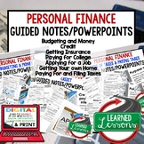 Personal Finance Guided Notes & PowerPoint,  Economic Note