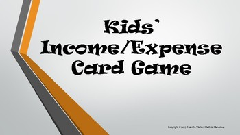 Finance Income/Expense for Teens' Card Game with Ledger
