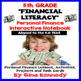 5th Grade Financial Literacy, Personal Finance Math Unit 5.10