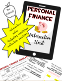 Personal Finance Interactive Unit ***GOOGLE SLIDES™*** with Budget Simulation
