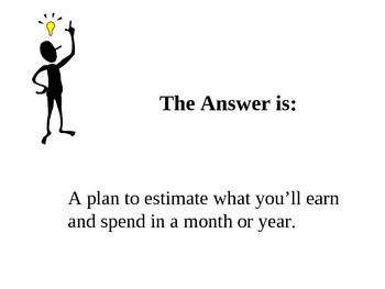 Personal Finance Jeopardy Basic Review:  Budget, Savings, Credit, Stocks
