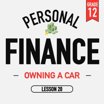 Personal Finance - Lesson 20 - Car Buying - Activities and PPT