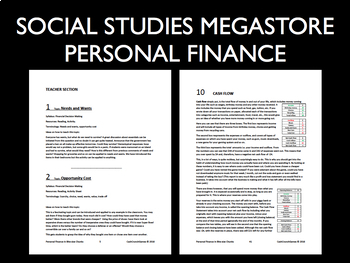 Personal Finance Lessons - 21 lessons with Activities and PPT