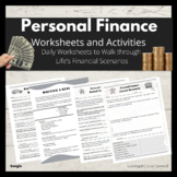Personal Finance Life Situations Worksheets & Activities -