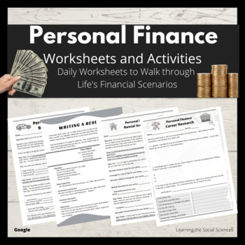 Personal Finance Life Situations Worksheets & Activities - Distance Learning
