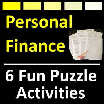 Personal Finance Puzzle Activities