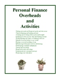 Personal Finance Overheads and Activities