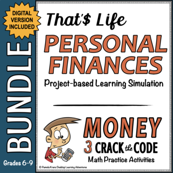 Personal Finance PBL Simulation Unit - Money Crack the Code Bundle