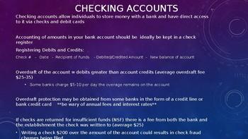 Personal Finance PPT Taxes, Insurance, Banking 22 slides Economics