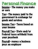 Personal Finance Poster/Handout