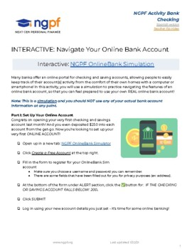 Personal Finance Project: Managing An Online Checking Account