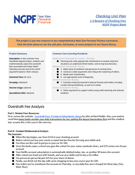 Personal Finance Project: Overdraft Fee Analysis