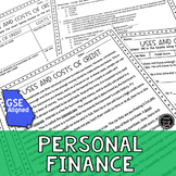Personal Finance Reading Activity Bundle (SS6E13, SS7E10)