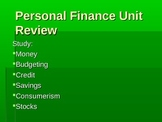 Personal Finance Review Quiz