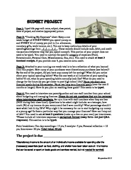Personal Finance: Student Budget Project