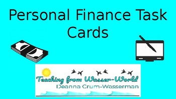 Personal Finance Task Cards For Teens